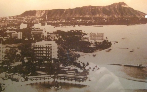 Une photo de Honolulu en 1958.