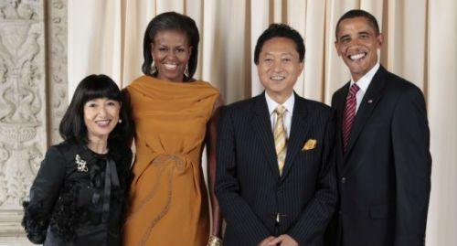 M. et Mme Hatoyama en visite à la Maison-Blanche en 2007.