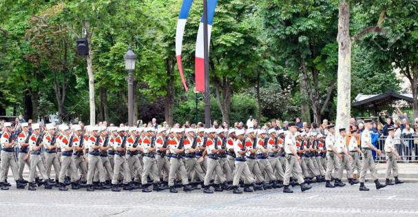 PARIS - JULY 14: Foreign Legion at a military parade in the Repu